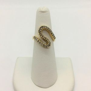 Jewelry - 14k Yellow Gold S Shaped 1.2ctw Diamond Ring Size